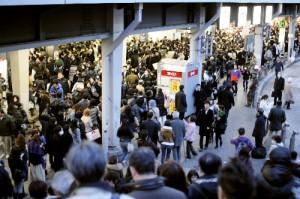 震災の日の新宿駅