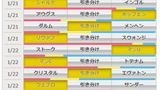 第904回 toto(1/21,22)のオカルト予想 「ブンデスリーガ&プレミアリーグ、にわかファンにも一目でわかる上位・注目チーム一覧」
