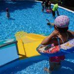 「【江津湖】ちびっ子プール三昧! 浮き輪のサイズについて」くまとR子の子育て日記(201日目)